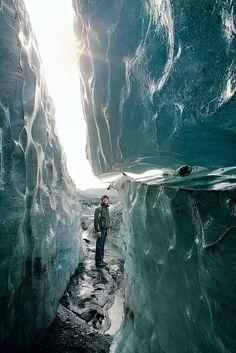 Myrdalsjokull glacier between the Icelandic towns of Vik and Skogar