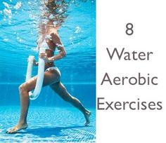 8 Water Aerobic Exercises: Spiderman, Pool plank, Chaos Cardio, One-Legged Balance, Cotre Ball Static Challenge, Cardio Core Ball Running