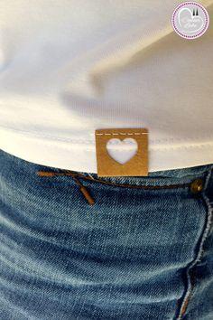 Nähen Nähmaschine,  Label, Etikett für Kleidung selbst selber machen