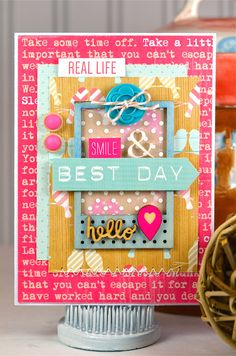 Best Day: All Occasion Card, Birthday Card for Her, Birthday Card, Friendship Card, Hello Card, Handmade Card, Greeting Card by thecardkiosk on Etsy https://www.etsy.com/listing/230720354/best-day-all-occasion-card-birthday-card
