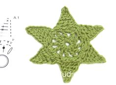 How to crochet a small Christmas star  Free crochet pattern DROPS Extra 0-1205