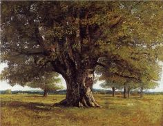 The Oak of Flagey (The Oak of Vercingetorix) - Gustave Courbet