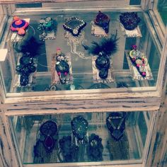 brooches on display at our new store at 23 hauzkhas village..only for Rs1200, visit and grab them now!!