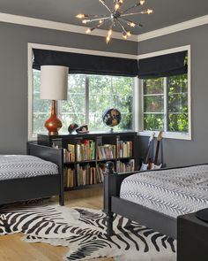 Teen Boy Bedroom Design, Pictures, Remodel, Decor and Ideas - page 2 Black And Grey Bedroom, Grey Bedroom Design, Gray Bedroom, White Bedrooms, Bedroom Designs, Black Beds, Girl Bedrooms, Blue Grey, Teen Bedroom