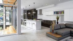 Witte betonvloer