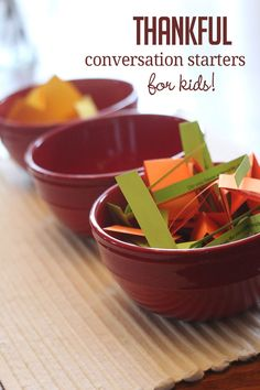 Thankful Thanksgiving Conversation Starters for Kids