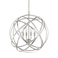 Capital Lighting Four Light Pendant From The Axis Collection In Brushed  Nickel Finish.   From Creative Lighting.