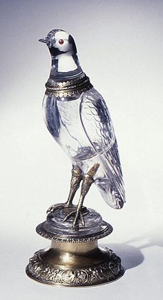 Bird Date: ca. 1580 Culture: German (Nuremberg) Medium: Rock crystal, silver gilt and ruby Dimensions: H. (with base) 12-1/8 in. (30.8 cm)