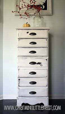 d5928fcac Painted distressed lingerie chest. I LOVE this one!... this website also  has monogrammed script initials for mmm room