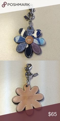 Coach key chain Flower key chain Coach Accessories Key & Card Holders