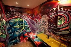 Awesome indoor graffiti