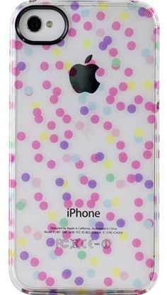 iPhone 4/4S ClearlyTM UN Deflector Case - Confetti Dots by Uncommon - Uncommon