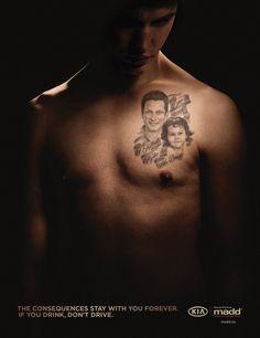 Татуировка «Я убил Кайли и ее отца». Не пей за рулем