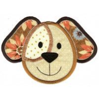 Cute Animal Faces Applique Machine Embroidery Designs | Designs by JuJu
