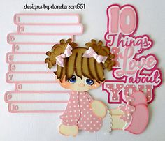 listed on ebay...danderson651 Girl, Love, Paper Piecing, Scrapbooking, PreMade, Embellishments, Albums, Borders facebook - danderson651 paperdesignz.com