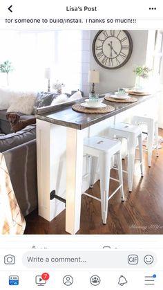 Home Renovation Tips: Enhancing The Floor Tiles Makes Huge Difference – Home Dcorz Half Wall Kitchen, Living Room Kitchen, Home Living Room, Home Renovation, Home Remodeling, Kitchen Design, Kitchen Decor, Divider Design, Divider Ideas