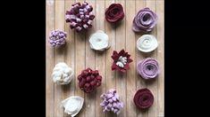 Felt Crafts Diy, Felt Diy, Diy Crafts To Sell, Felt Flowers, Diy Flowers, Fabric Flowers, Crafts For Boys, Paper Crafts For Kids, Felt Flower Tutorial