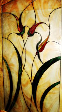 Stained Glass Door Panel - Contemporary - Window Treatments - san ...