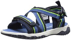 carter's Splash-B Sandal (Toddler/Little Kid). Quick-dry EVA insole. Unique webbing design upper. Double hook and loop closure for easy dressing. Breathable mesh features. 100% man-made materials.