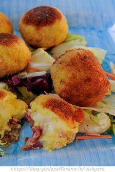 Bomboloni di patate olive e salame