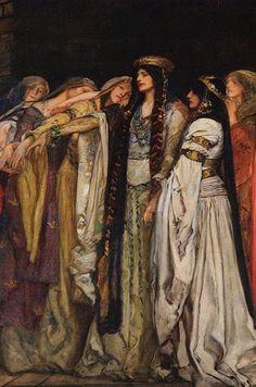 "Edwin Austin Abbey, ""Castle of Maidens (detail)"", c. 1890"