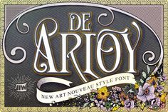De Arloy Typeface was inspired by art nouveau style from 1890-1910 which combining classic typography with awesome features bring classic touch on this decade :), it works well with normal