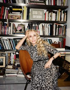 Italian Vogue Editor Franca Sozzani at Home in Paris