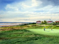 With The Open Golf Championship almost upon us this painting of Royal Liverpool Golf Course by the artist Bill Holkham is available in prints via this link. There is also a special on Canvas at a great price. If you require another size on canvas the artist will set up a special in that size for you. Please just email billholkham@msn.com.