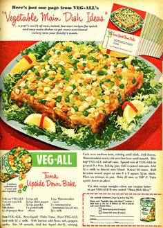 Upside Down Tuna Bake Family Circle Magazine, March, 1954