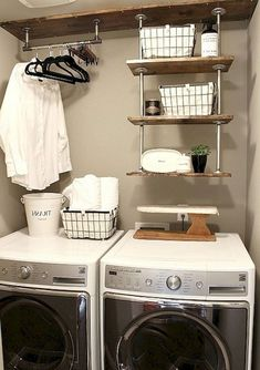 "Excellent ""laundry room storage diy budget"" info is offered on our internet site. Have a look and you wont be sorry you did. Teal Laundry Rooms, Modern Laundry Rooms, Farmhouse Laundry Room, Laundry Room Design, Laundry Decor, Mud Rooms, Modern Room, Laundry Room Shelves, Laundry Room Cabinets"