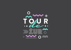 """Naming and visual identity of a video blog project that covers Croatian music festivals - Tour de Žur (in Croatian """"žur"""" is pronounced as """"jour"""" and means """"party"""")"""