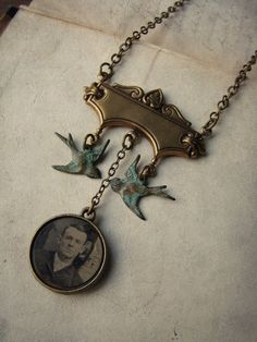 luminoddities OOAK Victorian tintype necklace