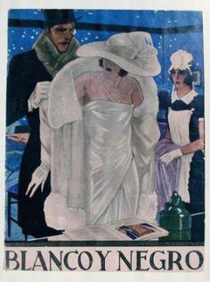 Portada de la revista Blanco y Negro, realizada por el gran Penagos con su estilo inconfundible.