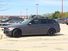 BMW 3 series wagon murdered out