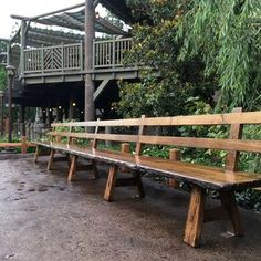 Rustic Barnwood Bench With Back Rest - 20' Long by Cristian Saleniuc