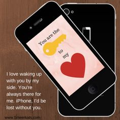 love declaration #ipone #valentine's Wake Up With You, Lost Without You, Valentines, Love, Iphone, Funny, Valentine's Day Diy, Amor, Valentines Day