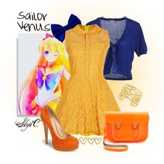 """""""Sailor Venus Inspired Outfit"""" by rubytyra on Polyvore"""