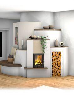 Kachelofen Landhaus bookshelves by fireplace Gorgeous Bedrooms, Bookshelves Built In, Fireplace Design, Family Room Sofa, House, Fireplace Shelves, House Tiles, Apartment Design, Home Decor