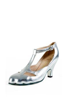 Vivienne Westwood's classic T-Bar Shoe Silver
