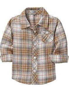 Patterned Flannel Shirts for Baby Boy | Old Navy