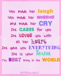 Mother's Quotes From Daughter | would be the greatest mother s day gift for her