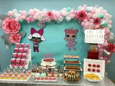 Lol Surprise Birthday Party. Lol Surprise Dolls. Lol Surprise Backdrop and Table Settings. Lol Surprise Decorations.
