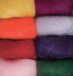 2. Favorite summer yarn: Aloft Super Kid Mohair Yarn for those summery lace patterns
