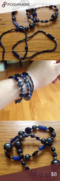 Selling this Set of Navy and Blue Bracelets in my Poshmark closet! My username is: kaybee6. #shopmycloset #poshmark #fashion #shopping #style #forsale #Jewelry