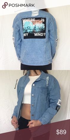 ❤️SALE❤️ vintage oversized distressed jean jacket •size: tag says medium but fits small or medium  note: the sleeves are short and fit best on a small.    •features: one of a kind oversized vintage distressed ripped denim jean jacket. has buttons on the ends of the sleeves and pockets  •no trades  ❗️❗️ NOT from UNIF (brand listed for visibility)  ⚠️ if this item does not fit you CANNOT return it - poshmark policy UNIF Jackets & Coats Jean Jackets