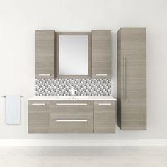 "Cutler Kitchen & Bath Silhouette 48"" Wall Hung Vanity & Reviews   Wayfair"