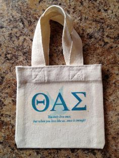 Theta Alpha Sigma Sorority Shower Tote! $10.00 included Shower Gel, Shampoo and hair Conditioner. Soon to be available at www.jbgreek.com