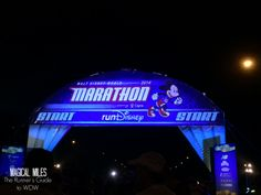 Start line of the runDisney Walt Disney World Marathon http://www.runnersguidetowdw.com/