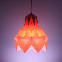 Luminária Pendente Hope – Rosa - Dobrarte Origami