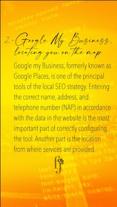 Google my Business, formerly known as Google Places, is one of the principal tools of the local SEO strategy. #ferminius #marketing  #branding  #socialmedia  #business  #marketingdigital  #entrepreneur  #startup  #digitalmarketing  #advertising  #entrepreneurship  #socialmediamarketing#realestate  #realtor  #realestateagent  #property  #luxuryrealestate Marketing Branding, Seo Marketing, Social Media Marketing, Digital Marketing, Seo Strategy, Local Seo, Seo Tips, The Locals, Entrepreneurship